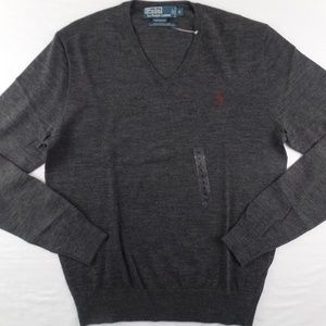 Polo Ralph Lauren Merino Wool Sweater Dark Grey S
